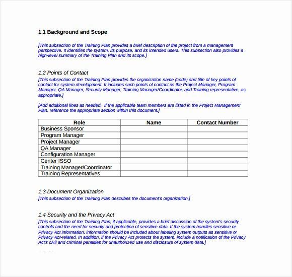 Workout Plan Template Pdf Unique Sample Training Plan 12 Example format