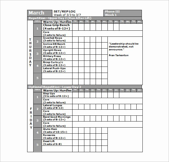 Workout Plan Template Word Inspirational Workout Schedule Template 6 Free Sample Example format
