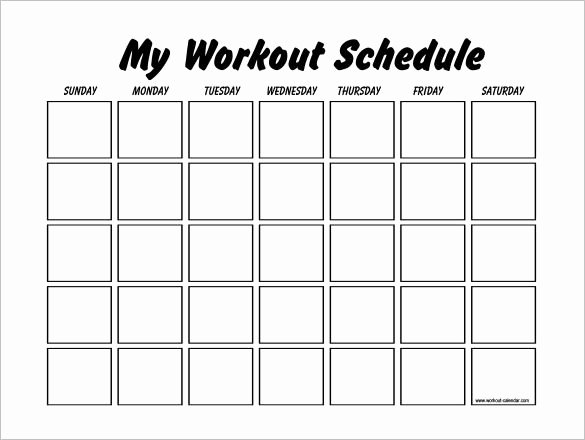 Workout Plan Template Word New Workout Schedule Template 10 Free Word Excel Pdf