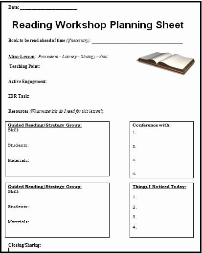 Workshop Model Lesson Plan Template Elegant 17 Best Images About Reading forms On Pinterest