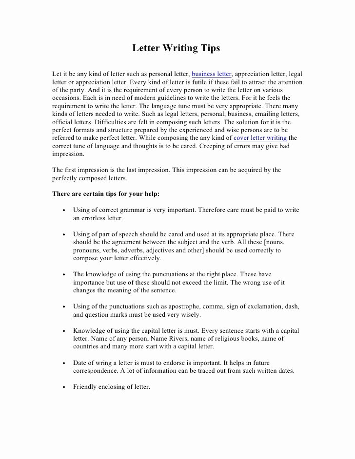 Writing A Personal Letter format Awesome Letter Writing Advice