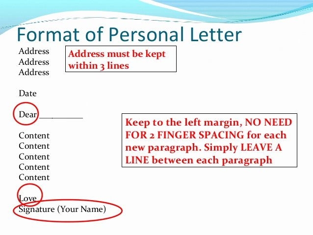 Writing A Personal Letter format New How to Write A Personal Letter