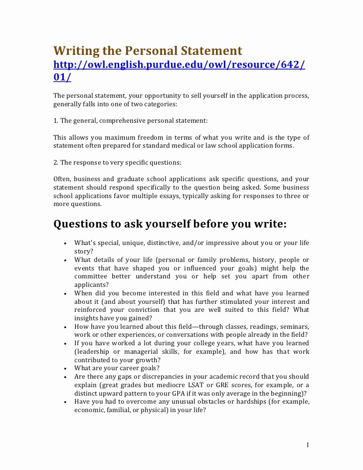 Writing A Personal Letter format New Writing the Personal Statement
