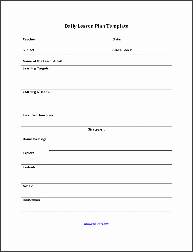 Writing Lesson Plan Template Awesome 9 Free Lesson Planner Template Line Sampletemplatess