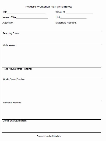 Writing Lesson Plan Template New the Idea Backpack How to organize Time In Reading and