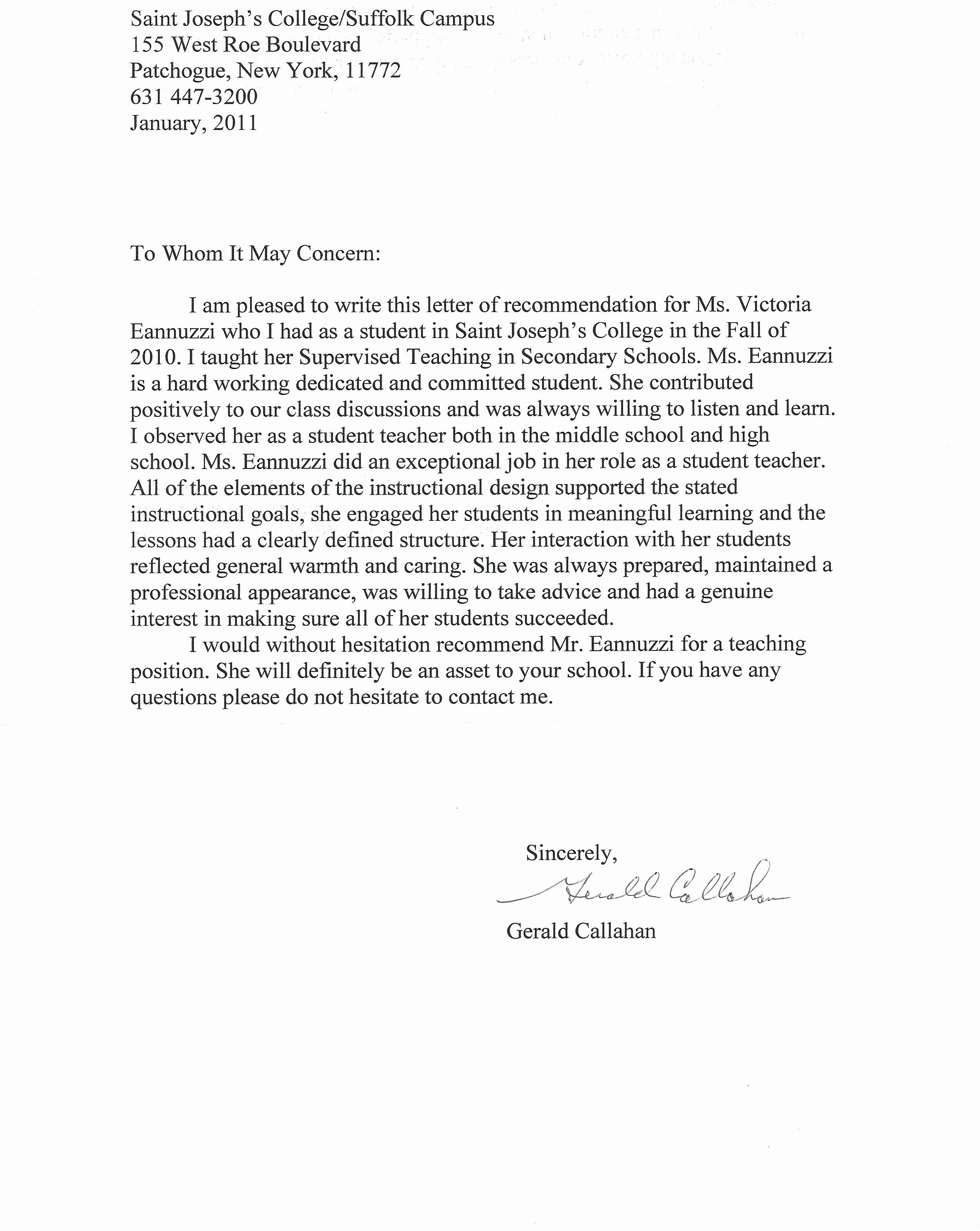 Writing Your Own Recommendation Letter Best Of Victoria Anne Eannuzzi My Teaching Portfolio