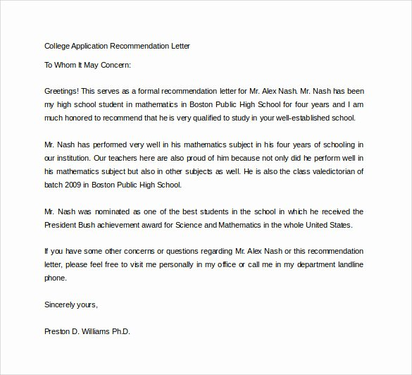 Writing Your Own Recommendation Letter Best Of Writing Letter Re Mendation for College Admission