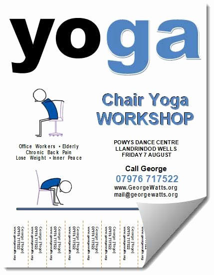 Yoga Lesson Plan Template Lovely Chair Yoga Lesson Plan