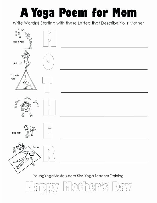 Yoga Lesson Plan Template Luxury Free Yoga Lesson Plans for Teachers Mothers Day Yoga
