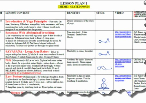 Yoga Lesson Plan Template Luxury Send You A Yoga Lesson Plan Template In Microsoft Word by